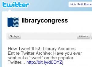 La biblioteca del congreso de Estados Unidos considera a las redes sociales en sus archivos