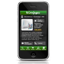 El Corte Inglés lanza su aplicación I-Phone desarrollada por Antevenio Mobile