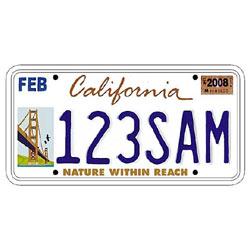 California planea sanear sus maltrechas cuentas con publicidad en las matrículas de los coches