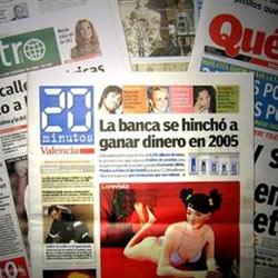 Desciende el número de diarios gratuitos en todo el mundo