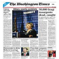 The Washington Times llega a un acuerdo preliminar sobre su venta