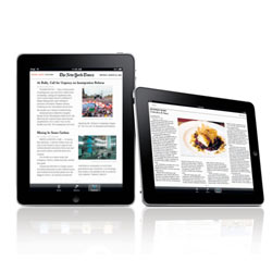 Los usuarios del iPad prefieren leer el periódico en la tableta de Apple
