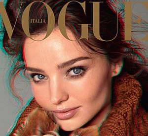 Vogue se apunta las portadas en 3D con Miranda Kerr