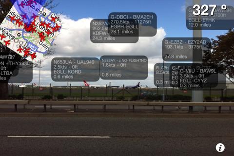 Conocer la ruta de un avión gracias a la realidad aumentada