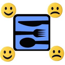 La pegatina Smiley que te dice dónde puedes comer tranquilo