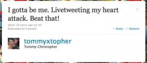 Un reportero twittea su ataque al corazón en directo