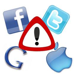 Los peligros que esconden Facebook, Twitter, Google y Apple para las empresas