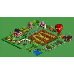 McDonald's juega en Farmville