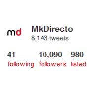 MarketingDirecto.com supera la barrera de los 10.000 seguidores en Twitter