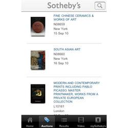 Sotheby's aterriza en el iPhone y en el iPad