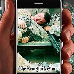 El iPhone llega a las trincheras de la mano de los reporteros de guerra