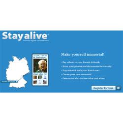 """Stayalive.com, el nuevo portal para la """"inmortalidad digital"""""""