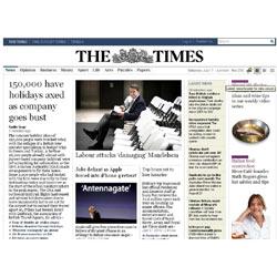 """""""The Times"""" cuenta con 105.000 suscriptores online"""
