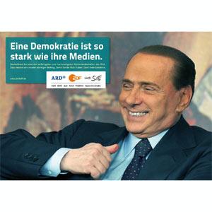 La televisión pública alemana se declara anti Berlusconi en una nueva campaña publicitaria
