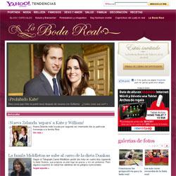 Yahoo! se viste de gala para la boda del príncipe Guillermo con Kate Middleton