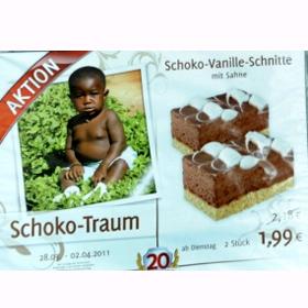 Un anuncio de una tarta de chocolate con un bebé de color desata las iras de los alemanes