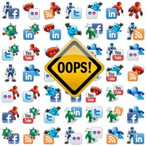 10 errores de social media marketing en las empresas B2B