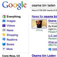 Las búsquedas de Bin Laden colapsaron Google el domingo por la tarde