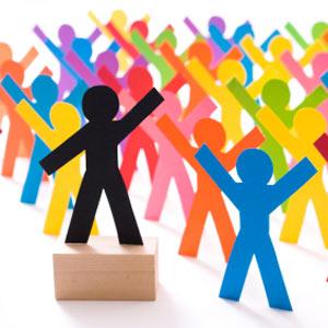 ¿Cómo se reparte la población de las redes sociales?