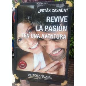 Los anuncios del portal para adúlteras Victoria Milan