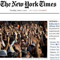 El movimiento 15 M llega a la portada del New York Times