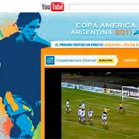 Copa América 2011 reunirá a los amantes del fútbol de 54 países diferentes en YouTube