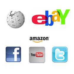 Parecidos y diferencias entre Wikipedia, Amazon, eBay, YouTube, Facebook y Twitter