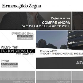 Ermenegildo Zegna vende su catálogo a través de una tienda 3D
