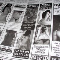 Los medios que anuncien prostitución podrán perder su trozo de pastel de publicidad institucional