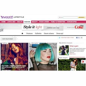 Coca-Cola Light lanza una web de moda en colaboración con Yahoo!