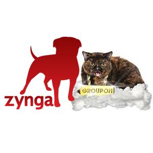 Zynga y Groupon, como el perro y el gato pero no tan distintos
