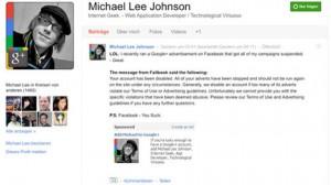 Facebook veta la publicidad de Google+ en su plataforma