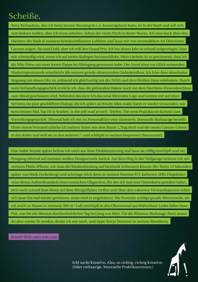 """La agencia alemana Jung von Matt lanza una campaña en busca de personas """"muy, muy creativas"""""""