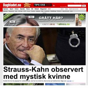 """Strauss-Kahn, víctima de un emplazamiento publicitario """"perverso"""""""