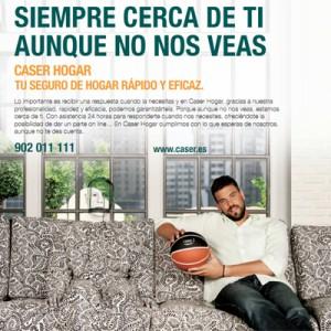 Marc Gasol protagoniza la última campaña de Caser Seguros