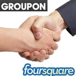 Los descuentos de Groupon, ahora también en Foursquare
