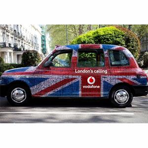 Los anunciantes apuestan por la publicidad en los taxis para los Juegos Olímpicos de Londres