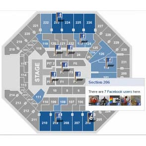 ¿Quieres saber dónde se sentarán tus amigos de Facebook en los conciertos?