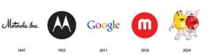 El pasado, presente y futuro de 12 famosos logos