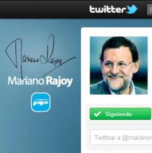 La cuenta de @marianorajoy en Twitter consigue casi 20.000 followers en 24 horas