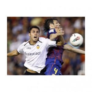 El Valencia es el primer club del mundo en promocionar su Twitter en las camisetas