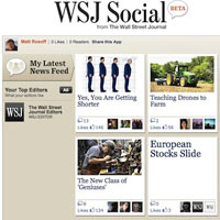 The Wall Street Journal publicará sus contenidos en Facebook