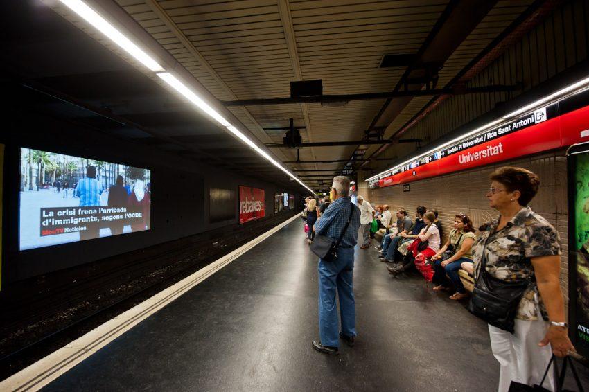 JCDecaux lleva MouTV al metro de Barcelona, un nuevo soporte para información y publicidad