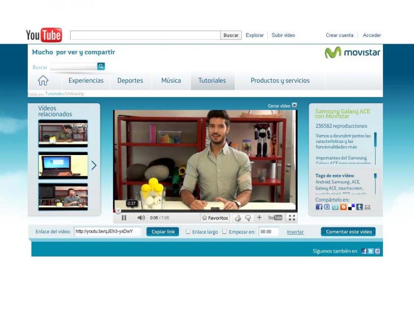 OgilvyOne diseña el canal de YouTube de Movistar y Social Noise renueva las cuentas de Facebook y Tuenti