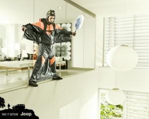 Jeep pone a prueba a los hombres en las tareas del hogar