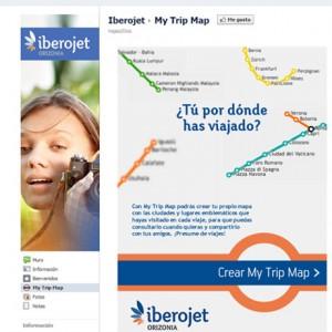 Iberojet presenta un mapa de viajes