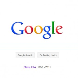 Google también rinde homenaje a Steve Jobs