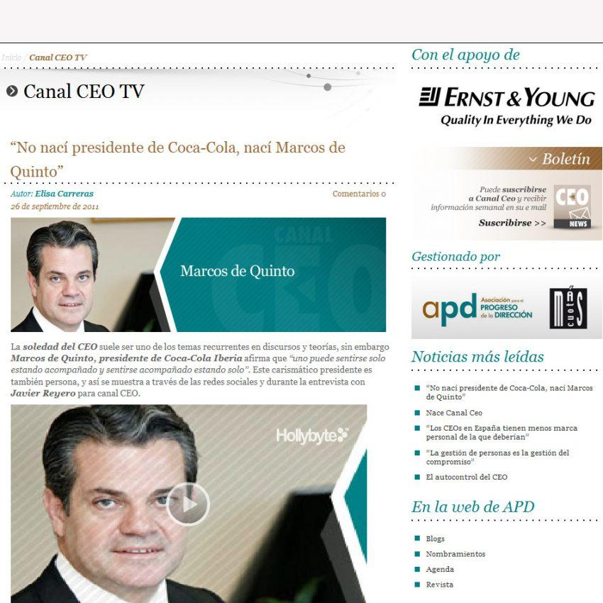 Marcos de Quinto en Canal CEO: