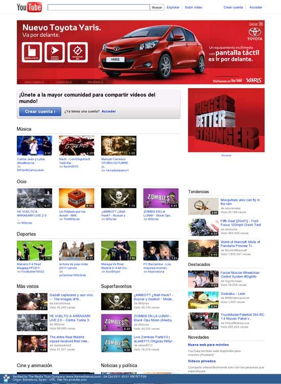 """Toyota apuesta fuerte por YouTube y lanza una campaña de publicidad """"Takeover"""""""
