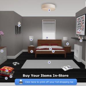 Ikea nos decora la habitación mediante la información de usuario en Facebook